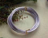 Thickness 8 gauge (3mm) - 16 feet - Artistic Aluminum Craft Wire -Light Purple