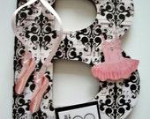 Ballet Dance Girls Custom Letter, Ballet Room Decor, Teen Ballerina Room, Toe Dancer, Ballet Recital Gift, Dance Teacher Gift.