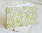 Chartreuse flourish guest book lime green paisley spring gold neon vintage style wedding album