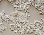 Large Ivory Bridal Lace applique - AppSet-033