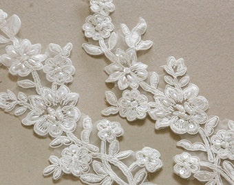 Ivory Bridal Lace applique - AppSet-032