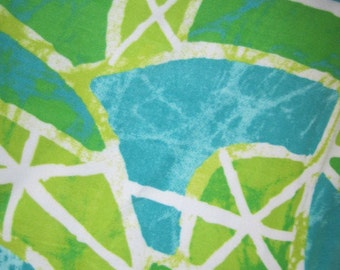 Greens, White and Aqua Geometric Designs with Brown Blanket - Ready to Ship Now