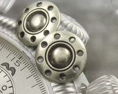Metal Buttons - Thread Wheel Metal Buttons , Nickel Silver Color , Shank , 0.83 inch , 10 pcs