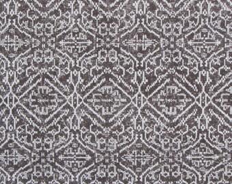 PRIYA CURRANT brown ikat designer, drapery/bedding/upholstery fabric