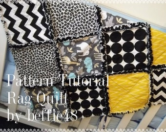 Rag Quilt Pattern Tutorial, Easy w photos