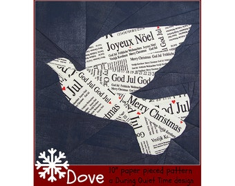 Dove Paper Pieced Pattern