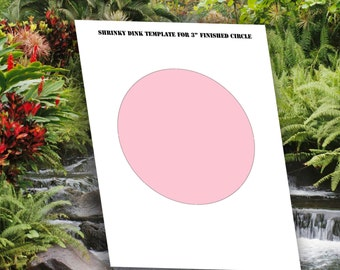 INSTANT DOWNLOAD-Print Your Own-DIY-3 inch circle shrinky dink template Transparent Background