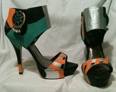 Funky Tribal Heels Stiletto Custom Hand Painted Stiletto High Heels Pumps