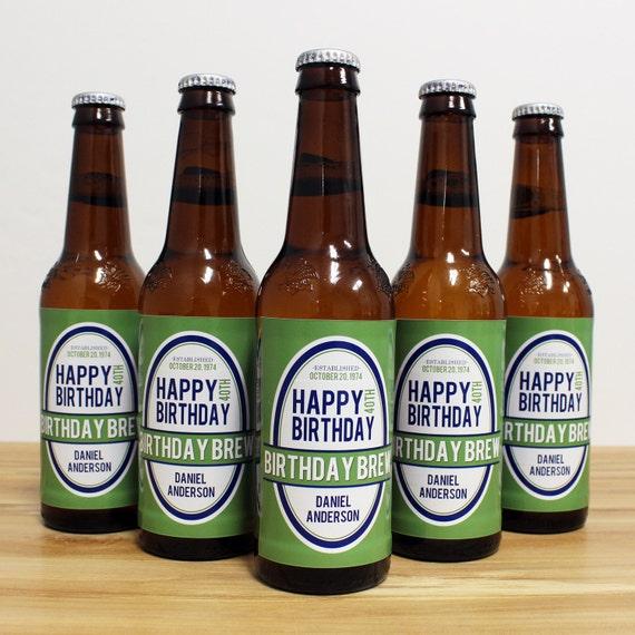 Custom Beer Bottle Labels Personalized Wedding By: Custom Beer Bottle Labels Personalized Men Birthday Brew