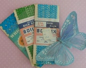 3 Packets of Vintage Turquoise and Green Rick Rack, 100% Cotton, Wright's and Boiltex,