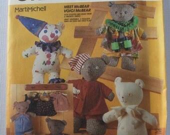 Marti Michell McBear and Clothes Stuffed Bear UNCUT McCalls Pattern 2629