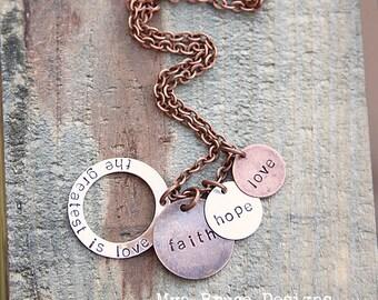 faith, hope, love - the greatest is love