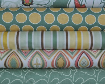 Valencia 5 Fat Quarter Bundle by Lila Teuller for Riley Blake, 1 1/4 yards total
