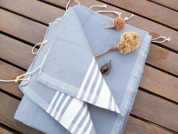 Gray Handwoven Turkish Hand Or Head Towel Bath Peshkir By
