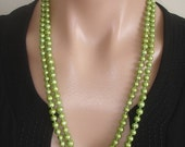 "35% OFF YIPPEE: Ashira Pearls - 50"" 7-8mm Green Cultured Pearl Necklace"