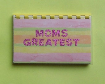 "Handmade ""Moms Greatest"" Blank Recipe Book"
