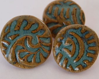 Buttons, Handmade ceramic buttons, Button with shank, Toggle Button