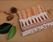 Natural Eco friendly Tribal wallet with zipper and embroidery