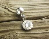 Bullet Bracelet / Sliding European Bracelet Bullet Charm Custom WIN-#-N/B-SPBBC / Charm Bracelet / Bullet Charm Bracelet / Custom