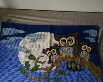 Good night owl afghan