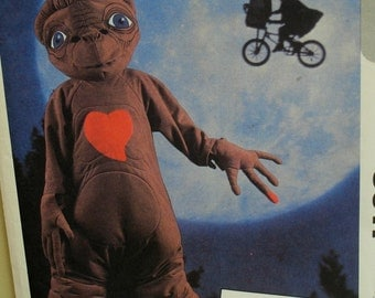 E.T. Alien Costume Sewing Pattern, Extra-Terrestrial Suit, Head, Feet, Hands, Vintage 1980s McCalls No. 8311 UNCUT Size Childs Large 12-14