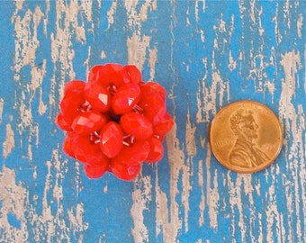 Small Opaque Red Crystal Bead Ball
