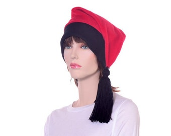 Phrygian Cap Red and Black Tassel Extra Large Traditional Liberty Hat