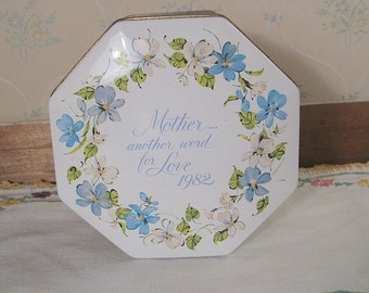 Avon Decorative Tin Box made for Mother's Day 1982