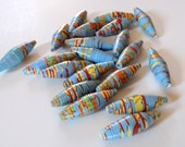 Little Boy Blue Paper Beads