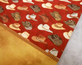 Pillowcase Cowboy Hats on Red Standard Size