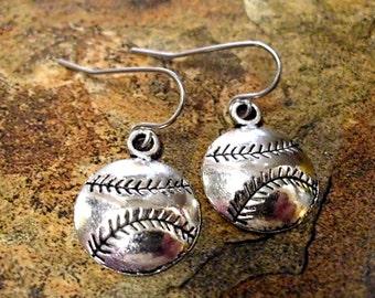 Baseball Earrings, Baseball Jewelry, Sports Jewelry, Baseball Jewelry Set