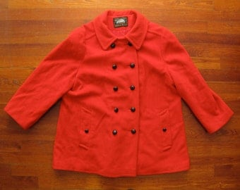 women's vintage red Mackintosh peacoat