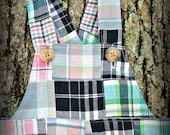 Prepster Madras Plaid Patchwork - A Good Day OVERALLs