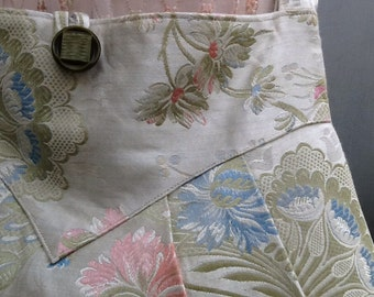 Shoulder Bag of Vintage Chinoiserie Fabric