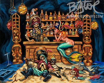 BigToe's A Pirates Life Art Print