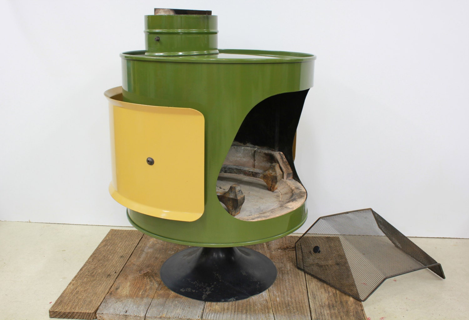 Mid Century Original Malm Fire Drum Green And By AtomicAttic