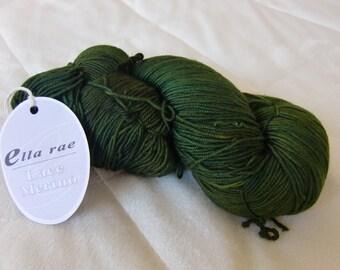 Ella Rae Lace Merino, fingering weight yarn, Emerald color