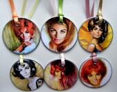 Celebrate Women Metal Rim Tags (Set of 6)