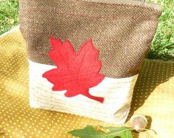 Autumn Leaf Zip Pouch