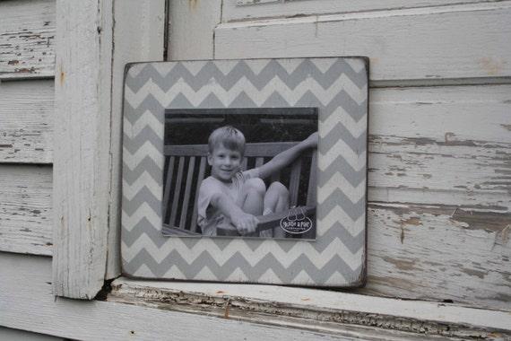 Handpainted distressed wood frame