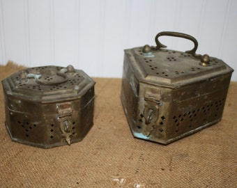 Brass Trinket Boxes - set of two