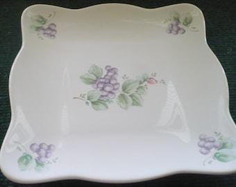 Pfaltzgraff Grapevine - 8 Inch Square Buffet Plate - Read Description