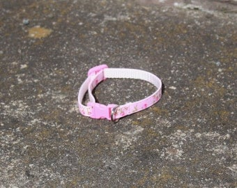 Pink Rose Cat/Kitten Collar- Adjustable & Breakaway