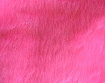 Pink Short Pile Faux Fur Craft Size