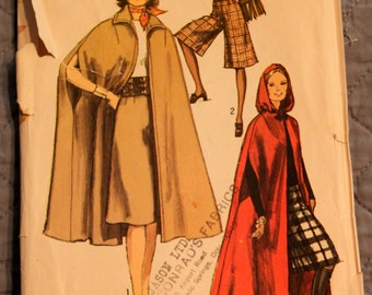 Simplicity Pattern 9249 size 12 bust 34 Waist 25-1/2 Miss Unlined Cape and Gaucho Pants Pattern (P146)