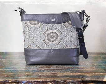 NEW Leather Camera bag - Gray Convertible Handbag with Insert -  PRE ORDER
