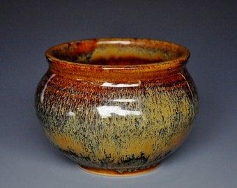 Stoneware Tea Bowl Chawan Sienna Garnet A