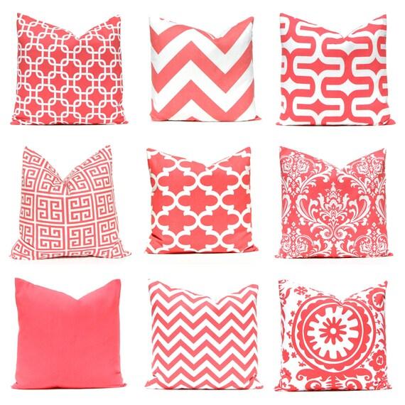 Decorative Pillows For Bed Coral : Pillows Coral Pillows Beach Decor Decorative by CompanyTwentySix