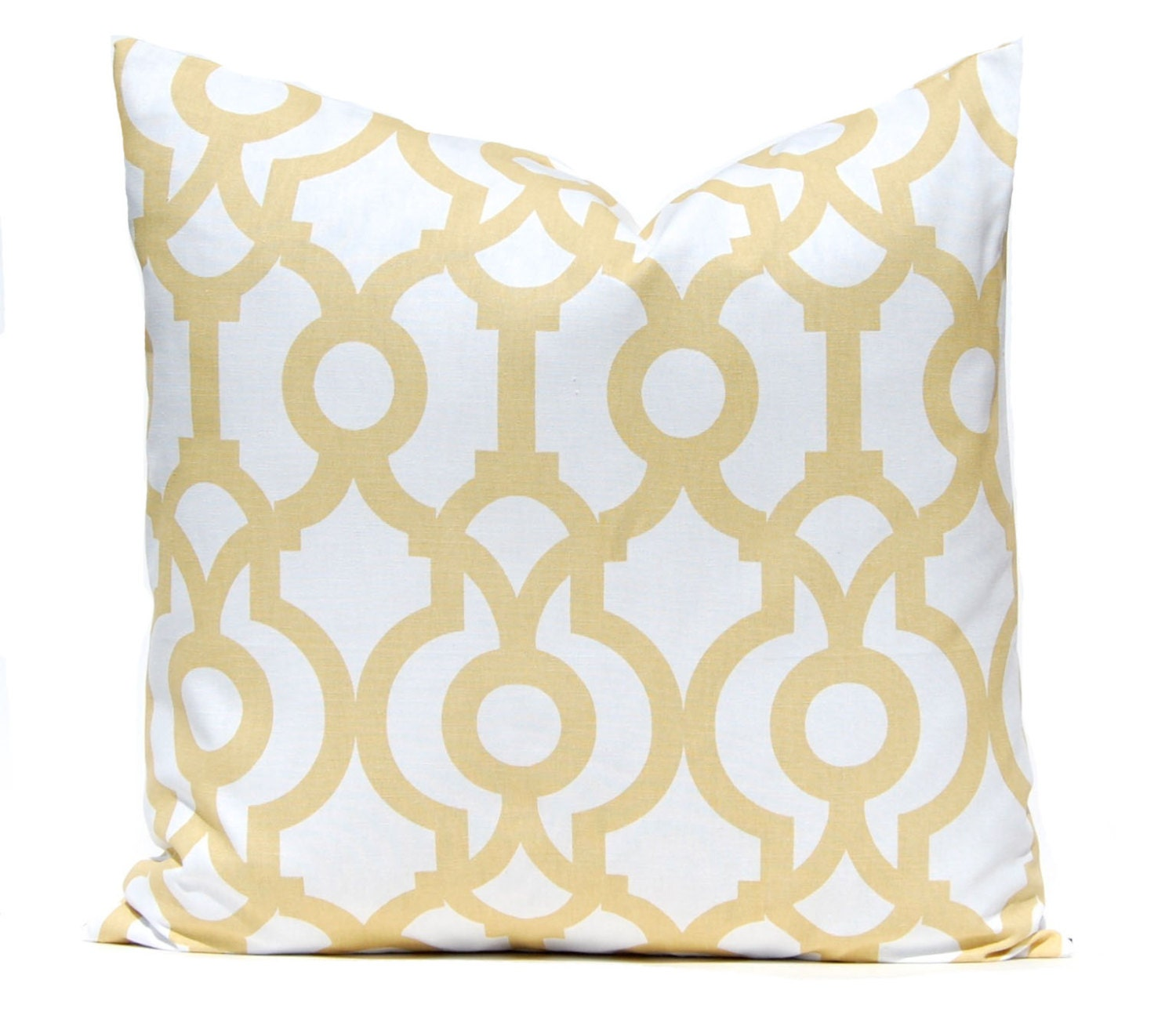 Decorative Pillows White And Gold : Pillows Yellow Pillow Gold Pillow Decorative Throw Pillow