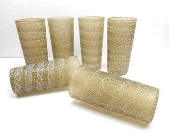Vintage  Spaghetti String Glasses